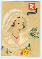 Y271/ Limousin Frankreich Trachten Künstler Litho AK Dyl Ca.1940 - Ohne Zuordnung