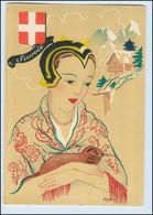 Y270/ Savoie Frankreich Trachten Künstler Litho AK Dyl Ca.1940 - Ohne Zuordnung