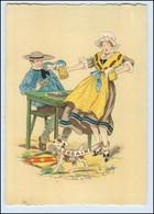 Y263/ Lorraine Frankreich Trachten Künstler Litho AK Maudy Ca.1940 - Ohne Zuordnung