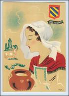Y275/ Nivernais Frankreich Trachten Künstler Litho AK Dyl Ca.1940 - Ohne Zuordnung
