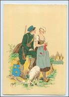 Y260/ Ile-de-France Frankreich Trachten Künstler Litho AK Maudy Ca.1940 - Ohne Zuordnung