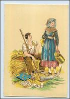 Y264/ Orleans Frankreich Trachten Künstler Litho AK Maudy Ca.1940 - Ohne Zuordnung