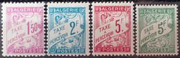 R2269/376 - 1945/1946 - COLONIES FR. - ALGERIE - TIMBRES TAXE - SERIE COMPLETE - N°29 à 32 NEUFS** - Portomarken