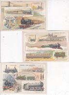 L004.........3 CHROMOS SUR LES TRAINS - 5 - 99 Cartoline