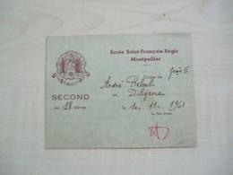 Ancien Résultats ECOLE ST FRANCOIS REGIS MONTPELLIER 1961 REBOUL André - Unclassified