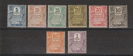 Guadeloupe 1904 Série Taxe 15-22 8 Val * Charnière  MH - Impuestos