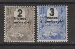 Guadeloupe 1926-27 Série Taxe Surchargée 23-24 2 Val * Charnière  MH - Impuestos