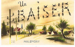 19  UN BAISER    DE    MALEMORT     CPM  TBE   764 - Andere Gemeenten