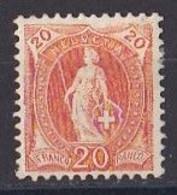 SUISSE  Helvetia  Debout  1882 1906  Y&T  N ° 71  Neuf Sans Gomme - Nuovi