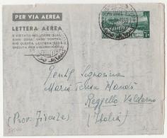 Colonie Italiane Somalia- Aereogramma  Amm .Fiduciaria Italiana 1951 Lettera Aerea C. 60 Viaggiata 18/12/1959 - Somalië