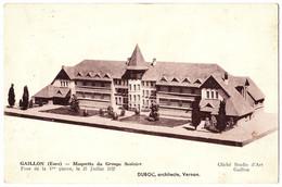 27 - B22443CPA - GAILLON - Maquette Du Groupe Scolaire - DUBOC Architecte - Très Bon état - EURE - Unclassified