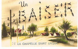18  UN BAISER    DE   LA CHAPELLE  SAINT  URSIN   CPM  TBE   773 - Andere Gemeenten
