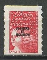 SPM MIQUELON 1998 N° 675 ** Neuf MNH Superbe C 1,80 € Marianne Du 14 Juillet Autoadhésif - Neufs