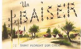 18  UN BAISER    DE   SAINT FLORENT  SUR  CHER   CPM  TBE   774 - Saint-Florent-sur-Cher