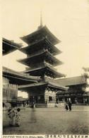 4 - JAPON  -   OSAKA  :  TOWER OF SHI ENNOJI        Circulée En 1913   Via  Sibérie - Osaka