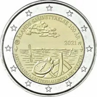 """Finland 2021    2 Euro Commemo  """"Aland""""    ZELDZAAM - RARE !!!!    UNC Uit De Rol  UNC Du Rouleaux !! - Finland"""