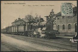 Mauvais état - Lure - La Gare Départ D'un Express N° 26 - Royer - Voir 2 Scans - Lure