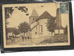 19-SOURSAC-Une Vue Animée De La PLaçe De L'Eglise Et Du Moniment Aux Morts - Other Municipalities