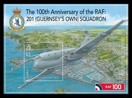 Guernsey 2018 Mih. 1677 (Bl.88) Aviation. Royal Air Force MNH ** - Guernsey