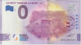 Billet Touristique 0 Euro Souvenir France 38 Petit Train De La Mure 2021-1 N°UEVL000495 - Private Proofs / Unofficial