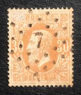 België, 1869-83, Nr. 33, Gestempeld L7 CUREGHEM, OBP 3€ + COBA 20€ - 1869-1883 Leopold II.