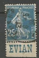 FRANCE Type Semeuse N° 140 PUB EVIAN OBL - Werbung