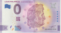 Billet Touristique 0 Euro Souvenir France 63 Louis Philippe 1er 2021-6 N°UEUM001058 - Private Proofs / Unofficial