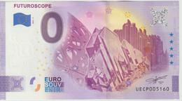 Billet Touristique 0 Euro Souvenir France 86 Futuroscope 2021-7 N°UECP005160 - Private Proofs / Unofficial