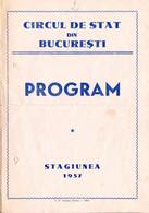 PUBLICITÉ / ADVERTISING - ROMANIA : CIRQUE De BUCAREST / STATE CIRCUS Of BUCHAREST - DÉPLIANT / PROGRAMME 1957 (ah795) - Circo