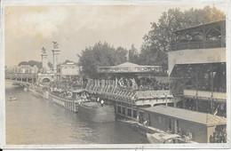 Belle Carte Photo écrite  La Seine Avec Vue Du Carrousel De La Vie Parisienne, Péniche, Bateaux-mouches , .............. - The River Seine And Its Banks