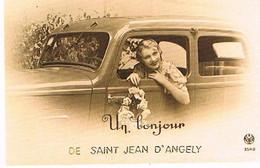 17  UN BONJOUR    DE SAINT JEAN D ANGELY    CPM  TBE   779 - Saint-Jean-d'Angely