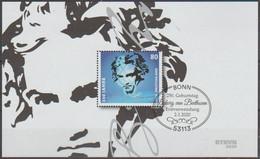 Bund 2020,Michel# Block 85 O Beethoven - Usados