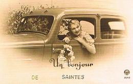 17  UN BONJOUR    DE SAINTES    CPM  TBE   782 - Saintes
