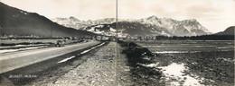 RARE PHOTO 13x34 Cm Germany Olympiastrasse Olympiastraße Construction Site 1935 FARCHANT 28.12.1935 - Garmisch-Partenkirchen