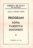 PUBLICITÉ / ADVERTISING - ROMANIA : CIRQUE De BUCAREST / STATE CIRCUS Of BUCHAREST - DÉPLIANT / PROGRAMME 1957 (ah796) - Circus