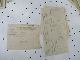 Gisors Lot De 5 Pharmacie Aillet Cavillier  Facture - 1900 – 1949