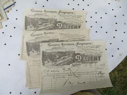 Gisors Lot De 4 Dauchy Tannerie   Facture - 1900 – 1949
