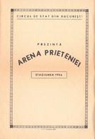 PUBLICITÉ / ADVERTISING - ROMANIA : CIRQUE De BUCAREST / STATE CIRCUS Of BUCHAREST - DÉPLIANT / PROGRAMME 1956 (ah797) - Circo