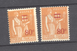 France  :  Yv  359-59a  ** - Unused Stamps
