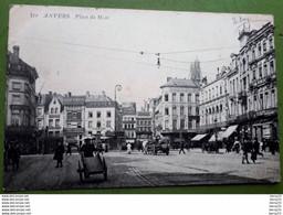 CPA - BELGIQUE - ANVERS -  Place De Meir - Attelage De Chevaux, Charrette à Bras, Nombreux Commerces - 2 Scans - Antwerpen