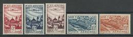 MAROC 1947 PA N° 60/64 ** Neufs MNH Superbes C 13.20 € Avions Planes Vues Remparts De Salé Moulay Idris - Aéreo