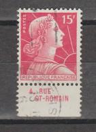 Marianne De Muller 15f Rouge N°1011a - Reclame