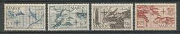 MAROC 1950 PA N° 75/78 ** NeufsMNH Superbe C 9.60 € Avion Planes Oeuvres De Solidarité Cartes - Aéreo
