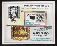 Olympic Games 1992 , Guyana  - Blok  Postfris - Ete 1992: Barcelone