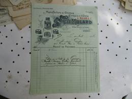 Manufacture Creme Cirage Mulard R Philippe De Girard  Paris Facture - 1900 – 1949