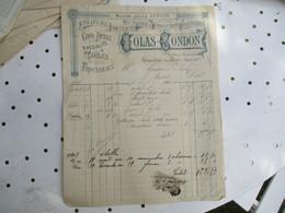 Gournay En Brie  Colas Condon Draperie  Facture - 1900 – 1949