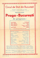 PUBLICITÉ / ADVERTISING - ROMANIA : CIRQUE De BUCAREST / STATE CIRCUS Of BUCHAREST - AFFICHE / PROGRAMME - 1957 (ah801) - Circus