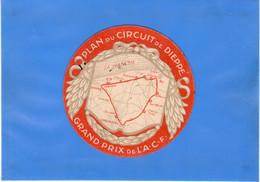 SPORT AUTOMOBILE - Plan Du Circuit De Dieppe, Diamètre De 7,8cm - Other