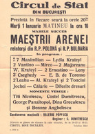PUBLICITÉ / ADVERTISING - ROMANIA : CIRQUE De BUCAREST / STATE CIRCUS Of BUCHAREST - AFFICHE / POSTER ~ 1957 (ah803) - Circus