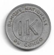 CONGO - 1 LIKUTA 1967 - Congo (Republic 1960)